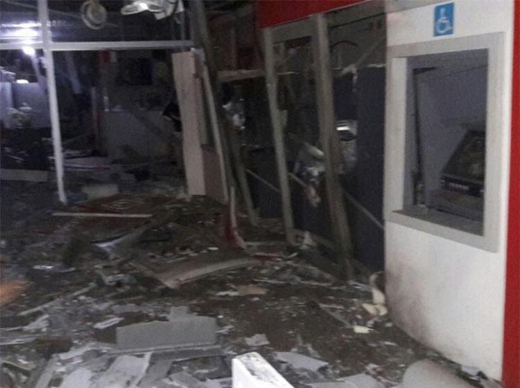 Agências ficaram destruídas após explosões - Foto: Reprodução