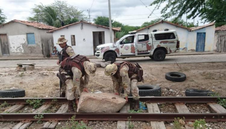 Após a liberação da ferrovia, a carga conseguiu chega em seus destinos - Foto: Divulgação| SSP-BA