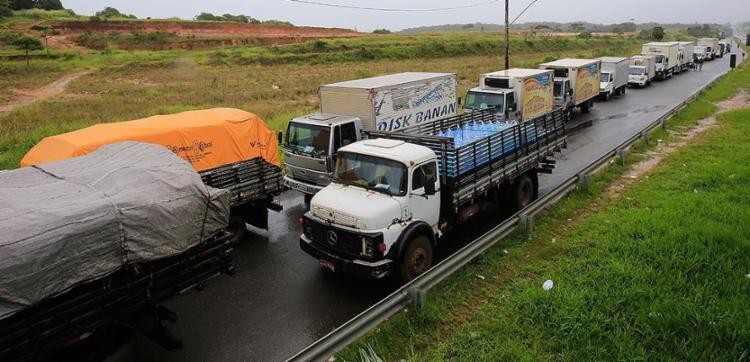 Greve dos caminhoneiros foi iniciada no dia 21 de maio - Foto: Margarida Neide l Ag. A TARDE