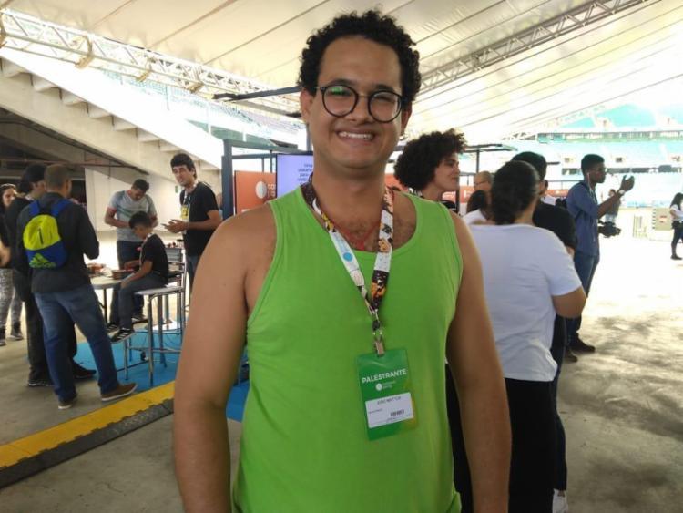 Palestrante João Mattos se apresenta no Palco Games e Criatividade - Foto: Igor Andrade