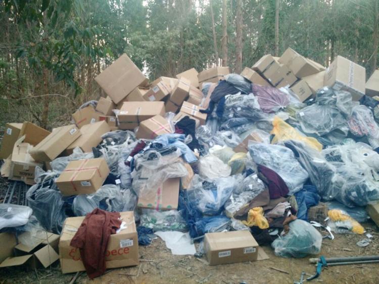 A carga era composta de roupas, calçados e produtos de beleza - Foto: Divulgação l ASCOM
