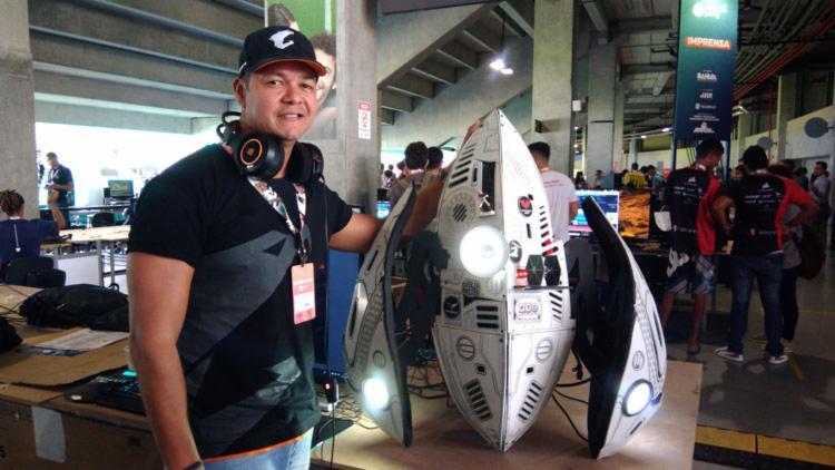 Maciel Barreto - Campeão Mundial em Casemodding - Foto: Fagna Santos