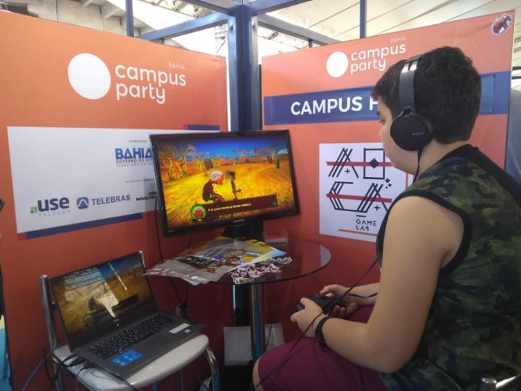 Árida foi um dos jogos apresentados na Área Open da Campus - Foto: Igor Andrade | Ag. A TARDE