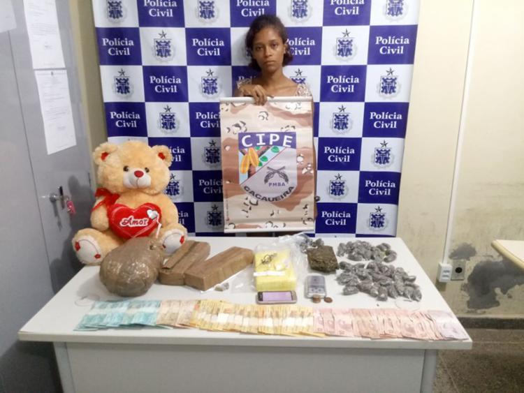 Com Laíse Ribeiro também foi encontrado o valor de R$ 1.900 - Foto: Divulgação | SSP