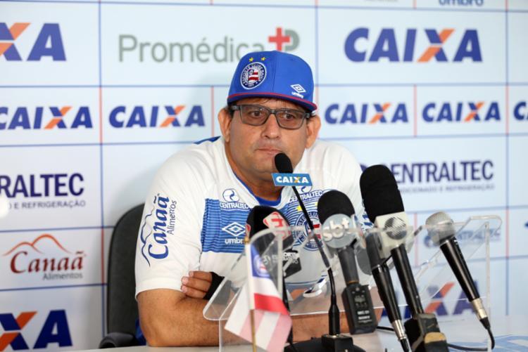 Treinador garantiu confiar nos comandados para superar o jejum de gols - Foto: Felipe Oliveira | EC Bahia
