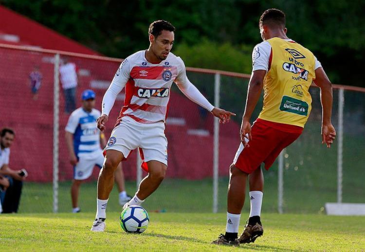 Atacante fez três gols nas últimas duas partidas do Esquadrão - Foto: Felipe Oliveira l EC Bahia