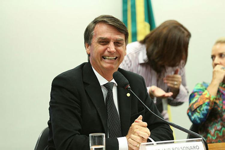 O deputado Jair Bolsonaro (PSL) lidera os três cenários de pesquisas estimuladas sem o ex-presidente Luiz Inácio Lula da Silva (PT) na disputa - Foto: Divulgação/Agência Brasil