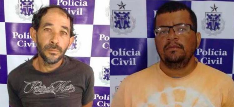 Nelson José (à esq.) e Adriano Matos foram detidos em cumprimento de mandados de prisões preventivas - Foto: Divulgação | ASCOM
