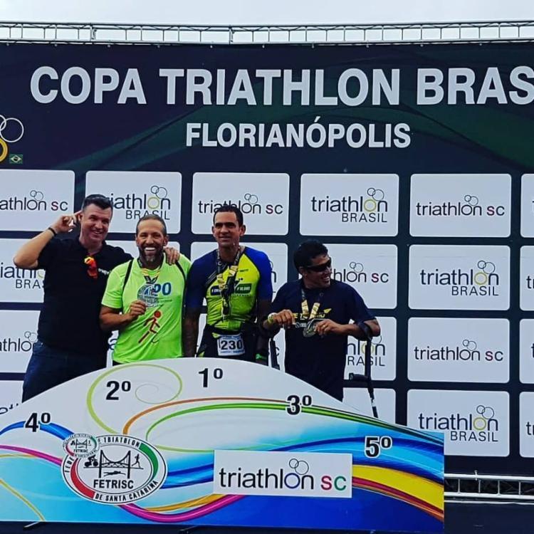 Fábio Rigueira se destacou na Copa do Brasil de Triatlhon em primeiro lugar - Foto: Divulgação