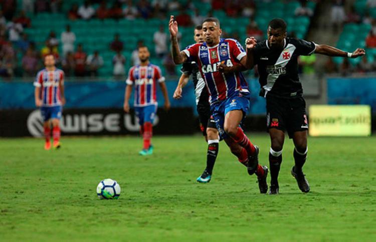 Último encontro de Bahia e Vasco ocorreu no dia nove deste mês, pela Copa do Brasil - Foto: Adilton Venegeroles / Ag. A TARDE