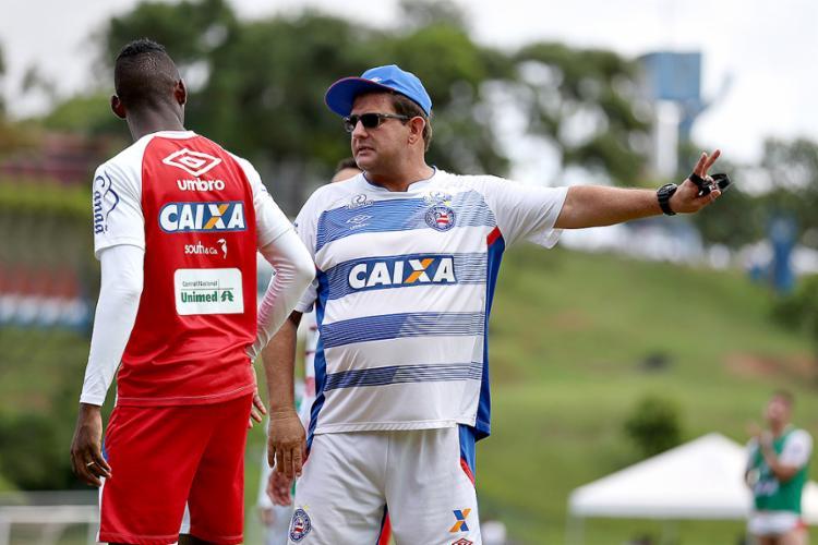 Guto Ferreira afirmou que a disposição pode equilibrar o duelo contra o Palmeiras no Allianz Parque - Foto: Felipe Oliveira l EC Bahia
