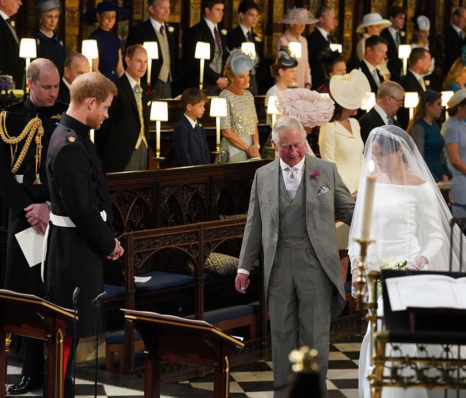 Com o pai doente, Meghan foi conduzido até o altar pelo príncipe Charles | Jonathan Brady | AFP