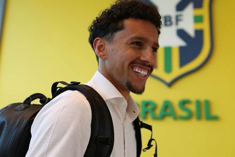 O zagueiro de 24 anos foi o primeiro a se apresentar ao técnico Tite - Foto: Lucas Figueiredo | CBF