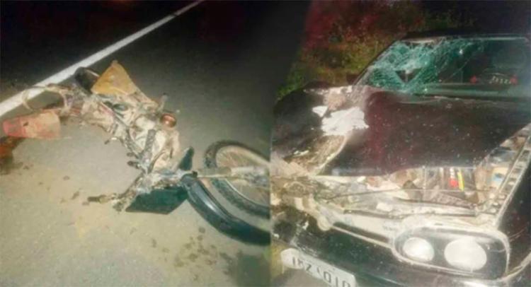 O motociclista morreu ainda no local do acidente - Foto: Reprodução | Portal Bahia