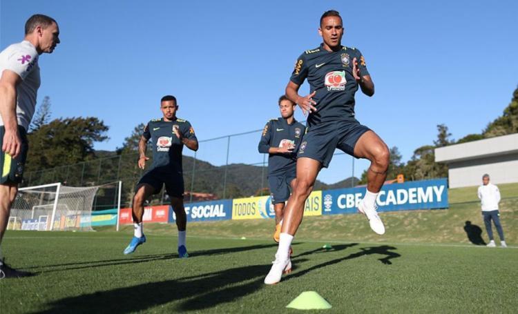 Neymar está no processo gradativo de recondicionamento de sua condição, enquanto Gabriel Jesus e Danilo estão há mais tempo sem disputar uma partida - Foto: Lucas Fugueiredo l CBF