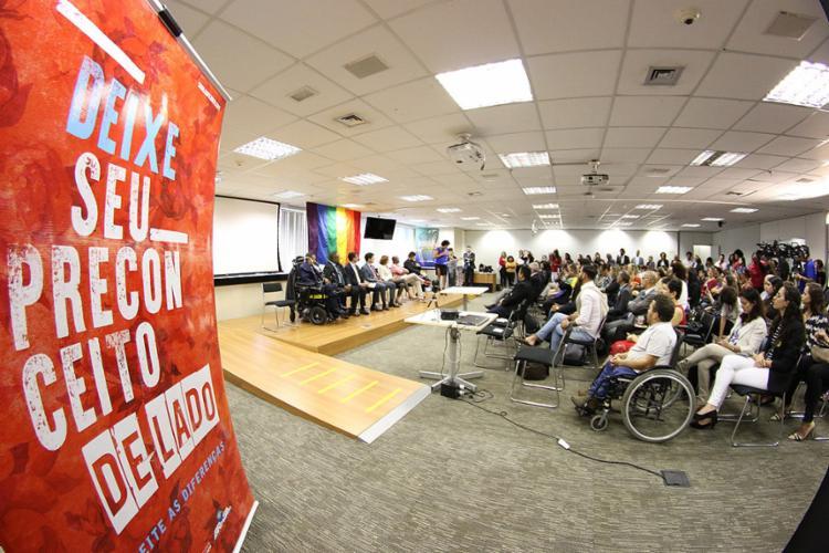 A solenidade integrou as comemorações pelo Dia Internacional de Combate a Homofobia, que é celebrado nesta quinta-feira, 17 - Foto: Luiz Alves l Ministério dos Direitos Humanos