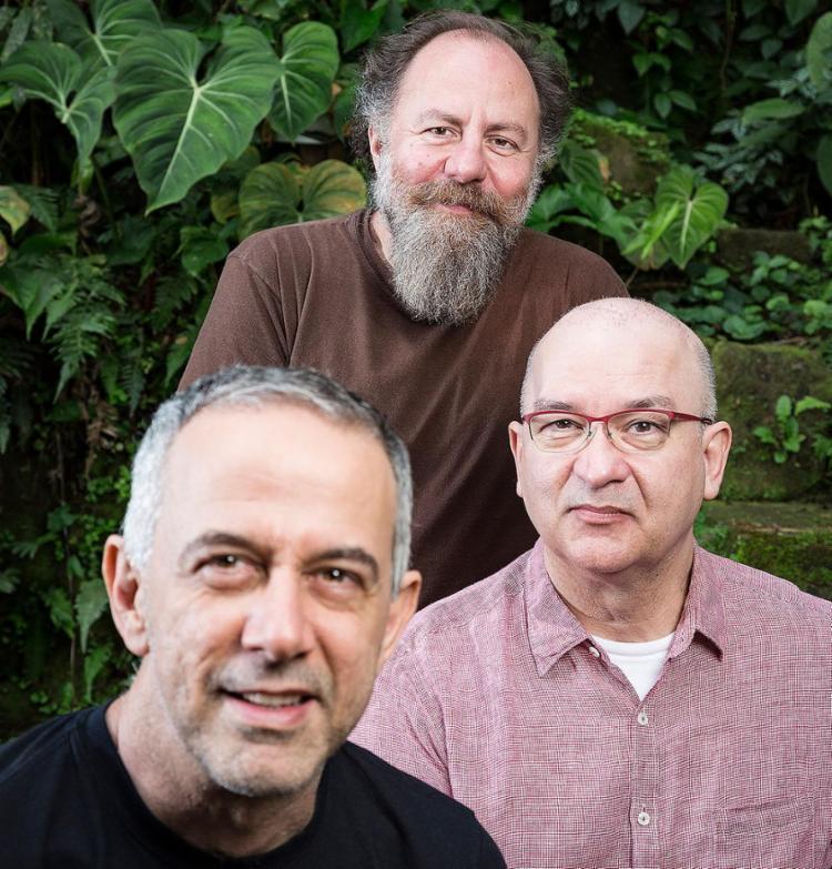 O trio eterno: Bi Ribeiro, Barone e Herbert Vianna - Foto: Divulgação