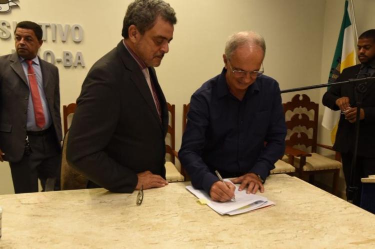 O convênio com o IFBA foi assinado pela prefeitura de Mata de São João para a instalação de um polo de Educação no município - Foto: Divulgação