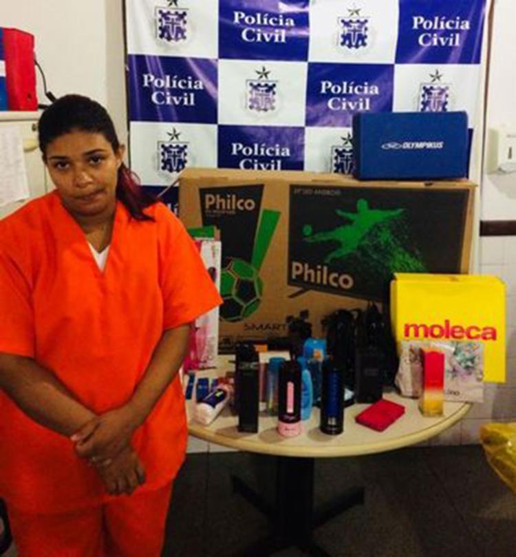 Danila Nascimento Nunes fez compras no valor de 10 mil reais - Foto: Divulgação| Policia Civil