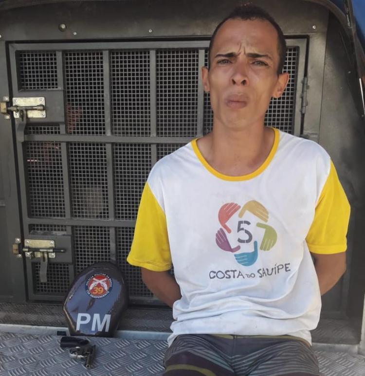 José passava por centro comercial na orla e portava revólver no momento da abordagem - Foto: Divulgação | SSP-BA