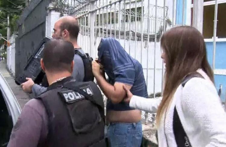 Homem foi detido no Rio de Janeiro durante a operação Luz na Infância 2 | Foto: Reprodução | TV Globo