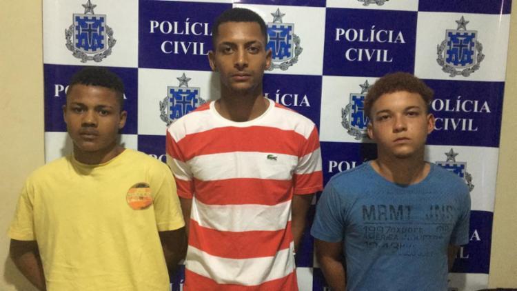 Trio é suspeito de atuar no tráfico de drogas, o que teria motivado o homicídio - Foto: Divulgação   Polícia Civil
