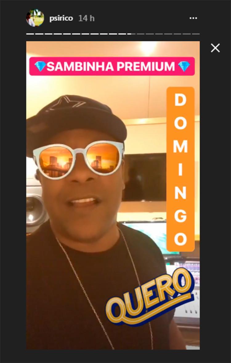 Márcio Victor convidou o público por meio de vídeo do Instagram