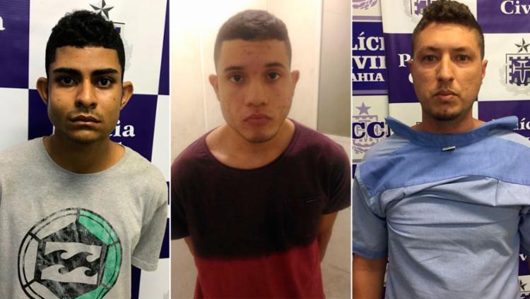 Lucas, Jhonatas e Zenóbio integravam quadrilha desarticulada pela polícia - Foto: Divulgação | Polícia Civil