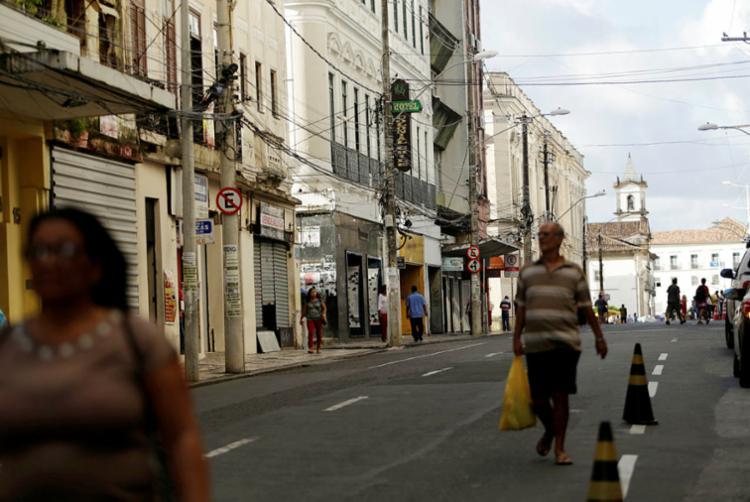 Rua do Centro Histórico de Salvador já foi importante área comercial - Foto: Adilton Venegeroles | Ag. A TARDE
