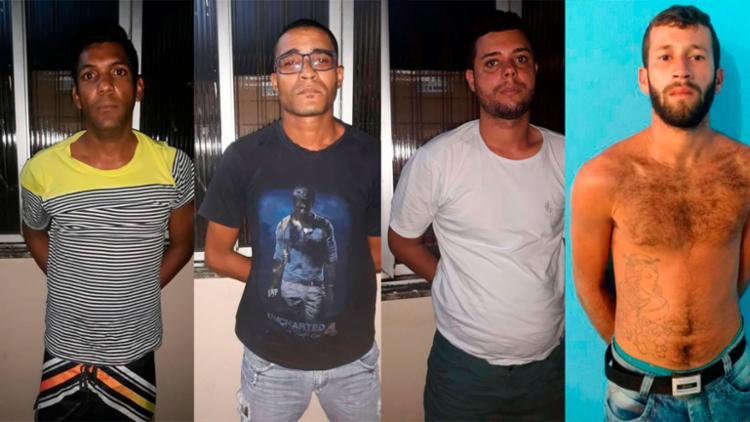 Suspeitos foram levados para a Central de Flagrante, na avenida ACM - Foto: Divulgação | SSP-BA