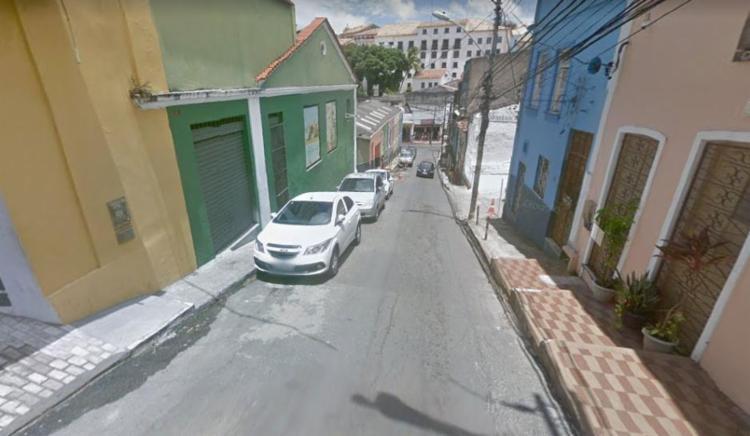 Mudança afeta o fluxo de veículos na ladeira da Saúde - Foto: Reprodução | Google Maps
