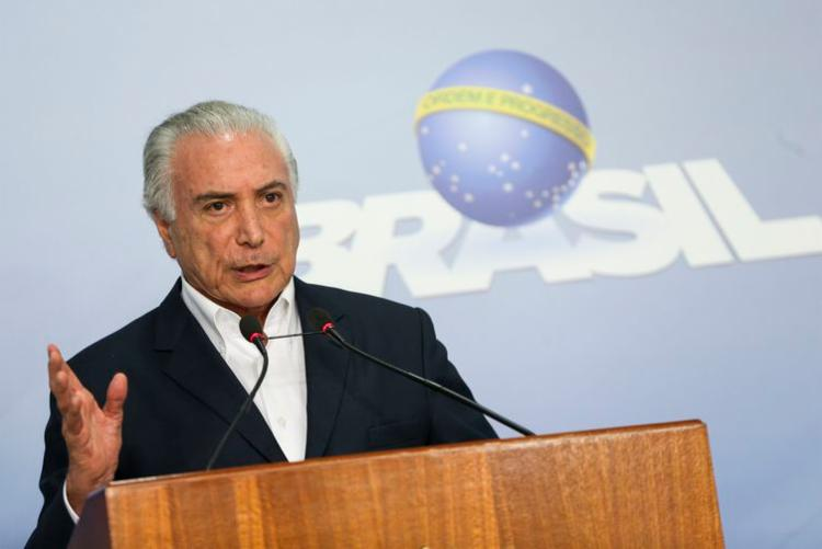 O presidente Michel Temer anuncia redução no preço do óleo diesel - Foto: Marcelo Camargo   Agência Brasil