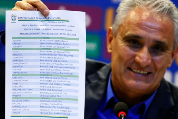 Técnico da Seleção Brasileira anunciou nesta segunda-feira, 14, os jogadores convocados para disputar Mundial na Rússia - Foto: Fernando Frazão l Agência Brasil