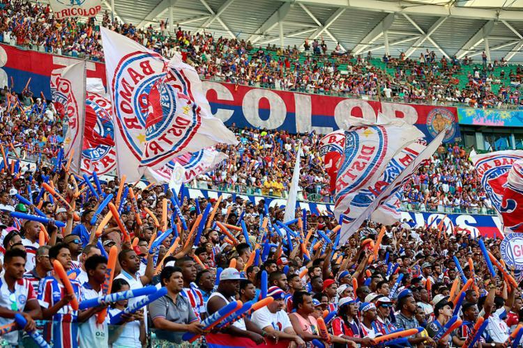 No embalo da goleada contra o Vasco, torcida deve encher a Arena - Foto: Felipe Oliveira l EC Bahia