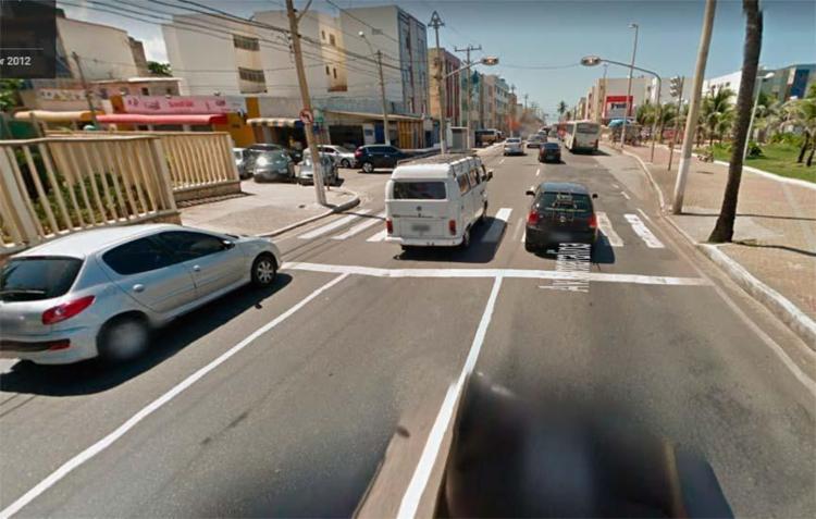 Acidente ocorreu na avenida Amaralina, sentido Pituba - Foto: Reprodução | Google Maps