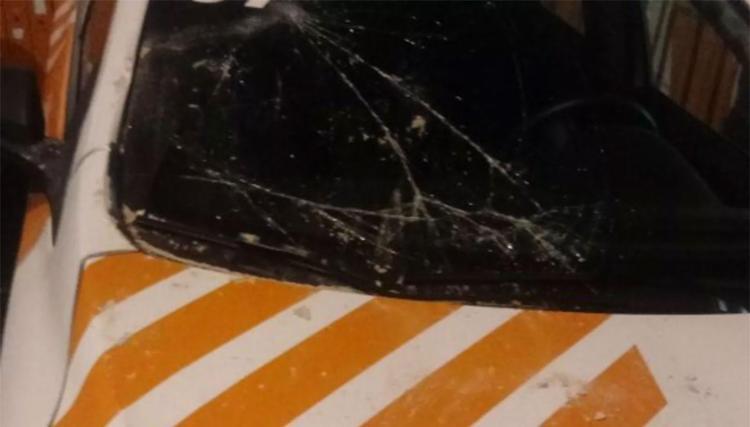 Viatura ficou danificada no acidente - Foto: Divulgação | Astram