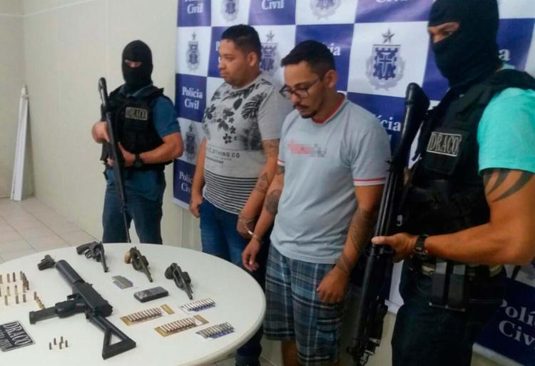 Vinícius Lopes de Oliveira e Gilvan Oliveira Ferreira foram presos - Foto: Divulgação | SSP -BA