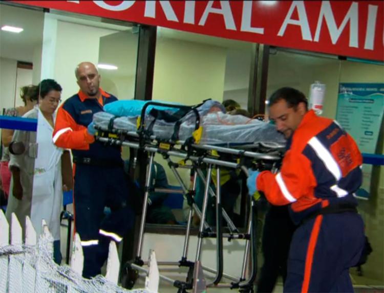Bala atingiu o ombro esquerdo da criança - Foto: Reprodução | TV Globo