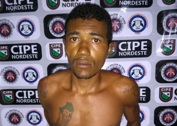 José Lidoberto foi capturado após tentar se esconder em uma casa - Foto: Reprodução | SSP