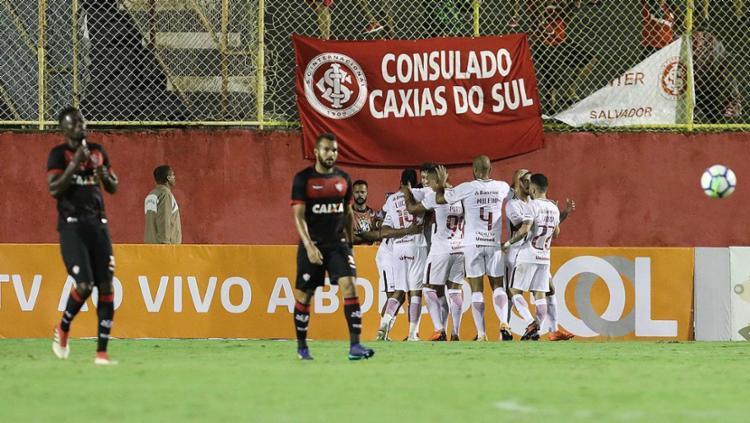 Defesa do Rubro-Negro voltou a falhar e time interrompeu a boa sequência no Brasileirão - Foto: Adilton Venegeroles l Ag. A TARDE