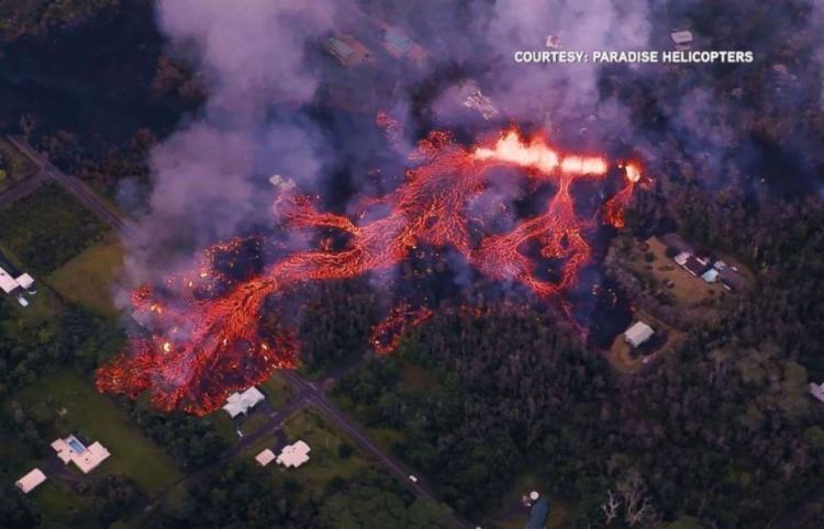Oito aberturas vulcânicas foram observadas no bairro Big Island - Foto: Reprodução