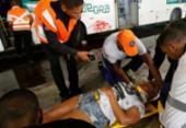 Socorristas realizam simulação de acidente na Estação da Lapa | Foto: Raul Spinassé | Ag. A TARDE