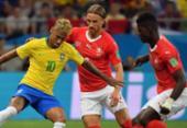 Brasil sai na frente, mas vacila e empata com a Suíça na estreia na Copa | Foto: AFP