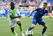 Veja imagens de Nigéria x Islândia | Foto: