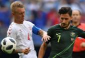 Austrália busca empate com a Dinamarca e segue viva na Copa | Foto: AFP