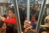Vagão do metrô é reservado para colégio particular e passageiros se revoltam | Foto: Cidadão Repórter | Via WhatsApp