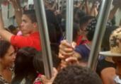 Metrô: vagão é reservado à colégio e passageiros se revoltam   Cidadão Repórter   Via WhatsApp