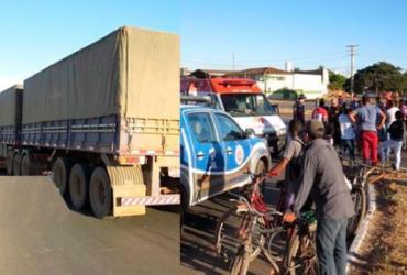 Idosa morre após colidir moto em lateral de carreta na BR-242 | Reprodução | Blog do Marcelo