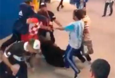 A agressão ocorreu após a derrota da Argentina por 3 a 0 diante da Croácia - Reprodução | You tube