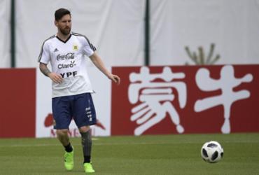 Lionel Messi ao resgate da Argentina   Juan Mabromata   AFP